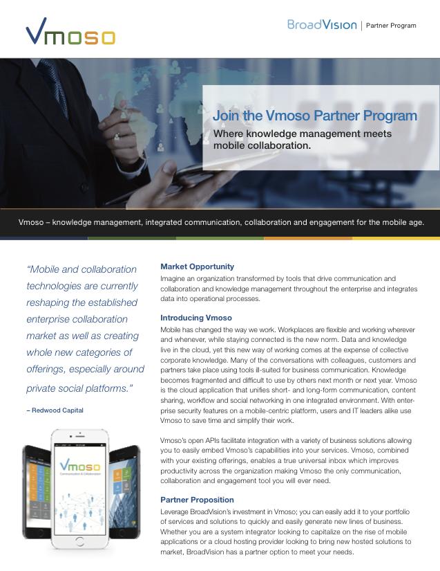 Join the Vmoso Partner Program