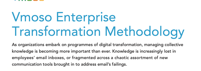 Vmoso Enterprise Transformation Methodology
