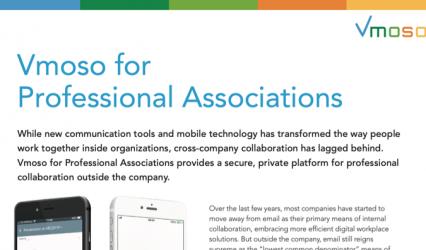 Datasheet: Vmoso for Professional Associations