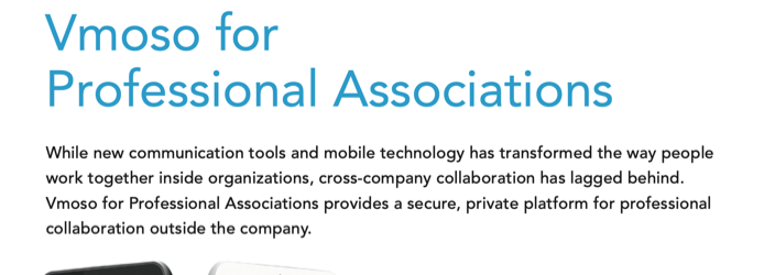Datasheet: Vmoso for Professional Associations
